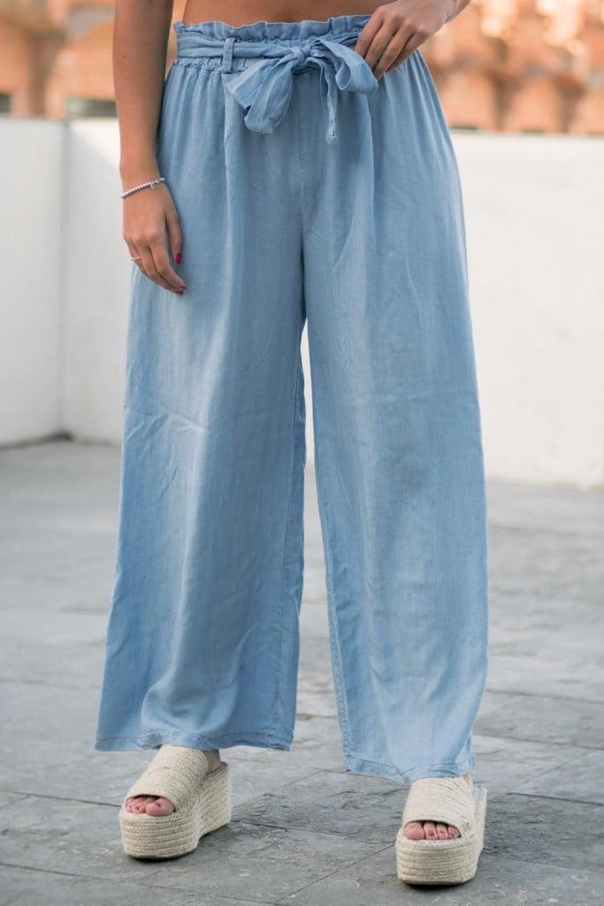 Pantalones Anchos Mujer Natural By Lila