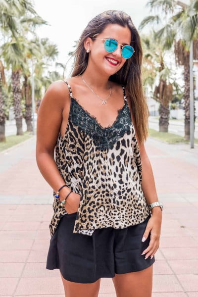 Comprar Top Lencero Leopardo Online