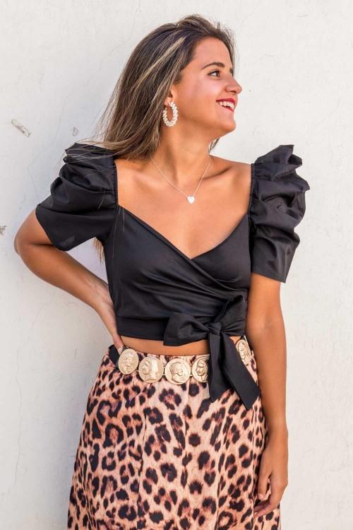 Comprar Falda Nido de Abeja Flores Online
