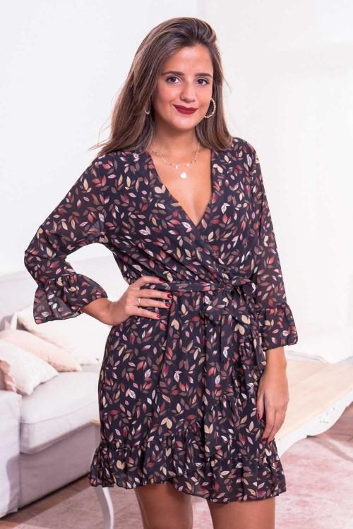 Comprar Vestido Cruzado Flores Online