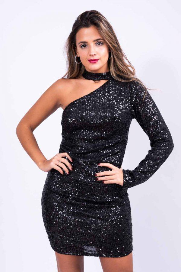 Comprar Vestido Choker Asimétrico Online