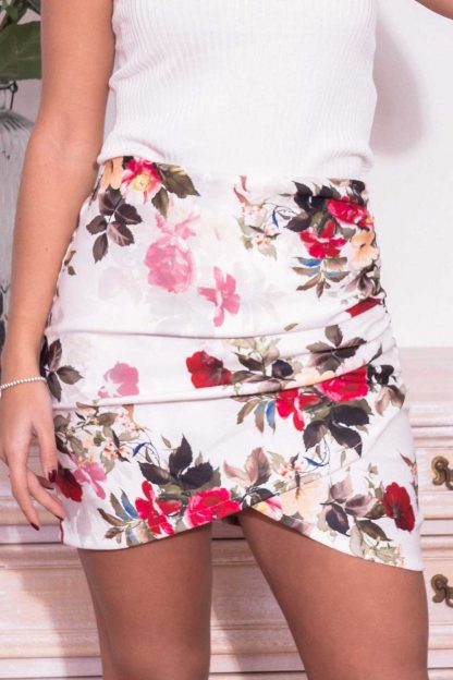 Comprar Falda Flores Cruzada Online