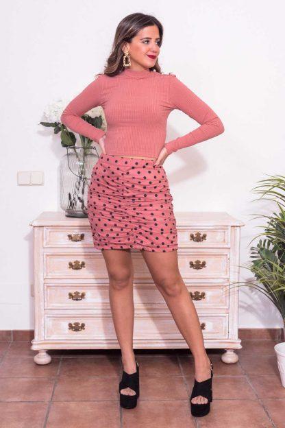 Comprar Falda Topos Fruncida Online