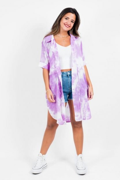 Comprar Vestido Camisero Tie Dye Online