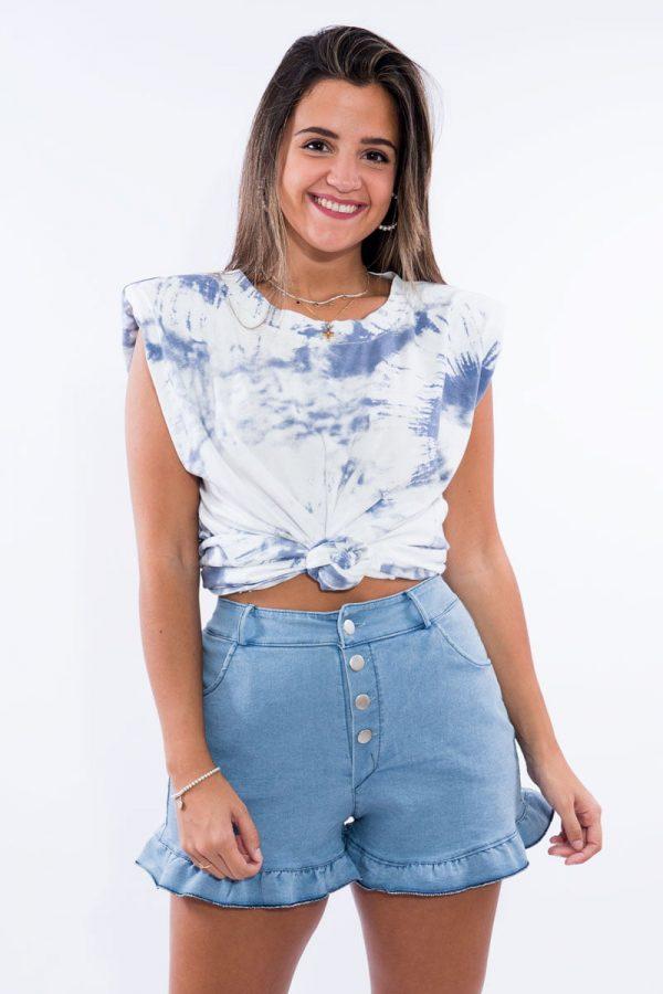 Comprar Camiseta Hombreras Tie Dye Online
