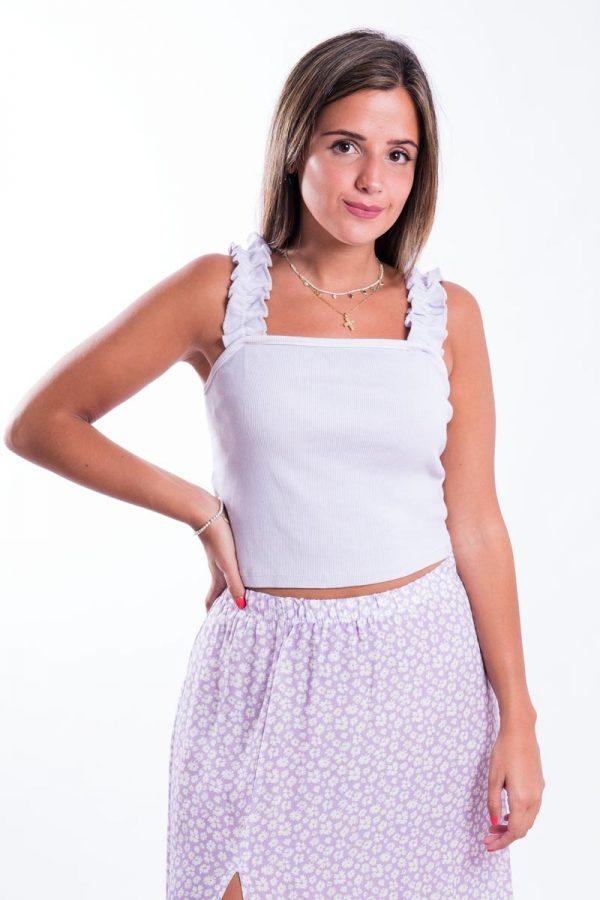Comprar Top Tirante Arrugado Online