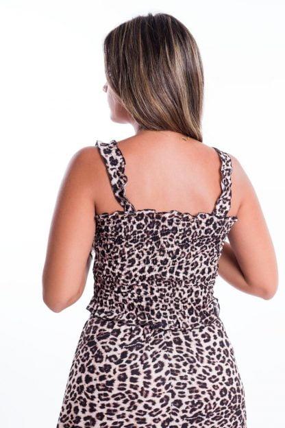 Comprar Top Fruncido Leopardo Online