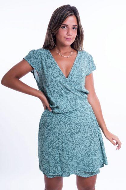 Comprar Vestido Atado Leopardo Online