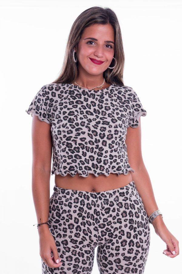 Comprar Crop Top Leopardo Online