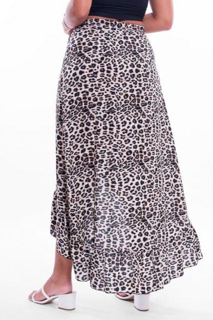 Comprar Falda Cruzada Leopardo Online