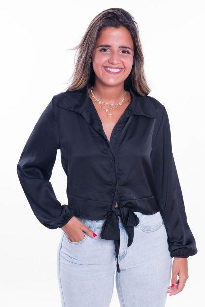 Comprar Blusa Raso Anudada Online