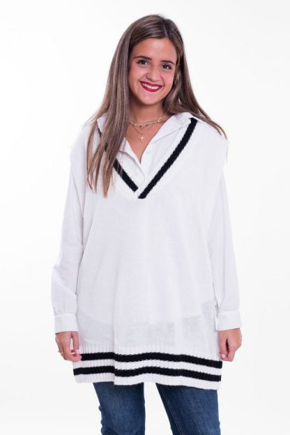 Comprar Chaleco Oversize Rayas Online