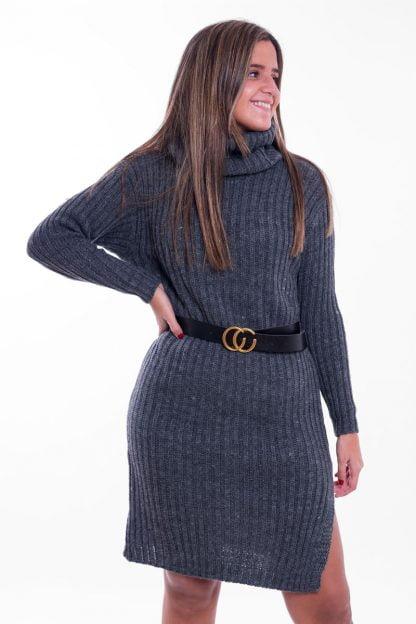 Comprar Vestido Tricot Cuello Vuelto Online