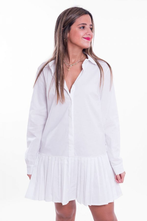 Comprar Vestido Camisero Plisado Online