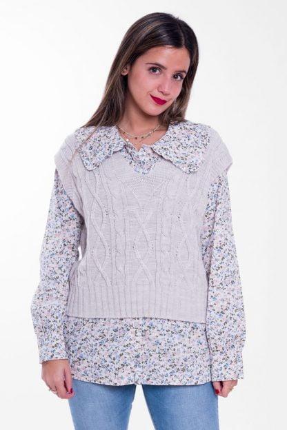Comprar Camisa Flores Cuello Vintage Online