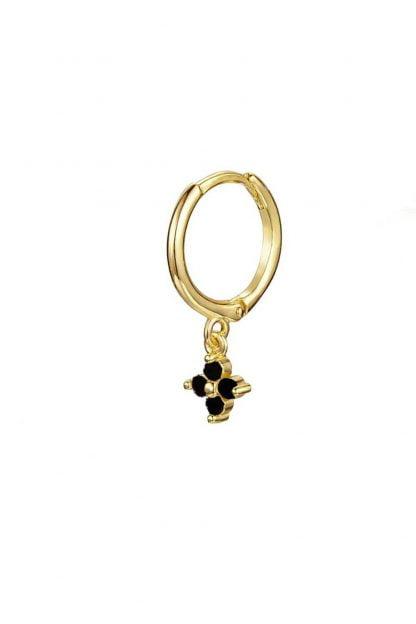 Comprar Pendiente Flor Circonita Negra (Unidad) Online
