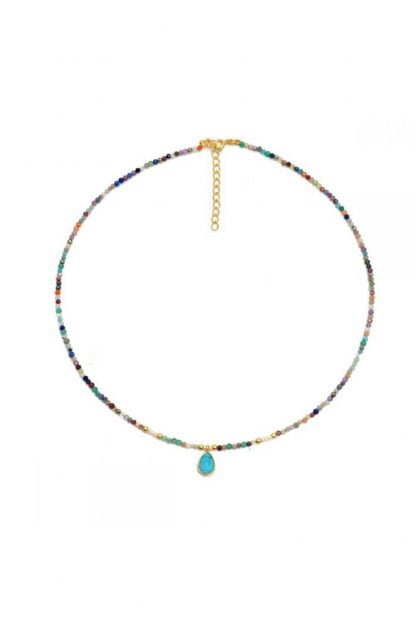 Comprar Collar Mineral Multi Turquesa Online