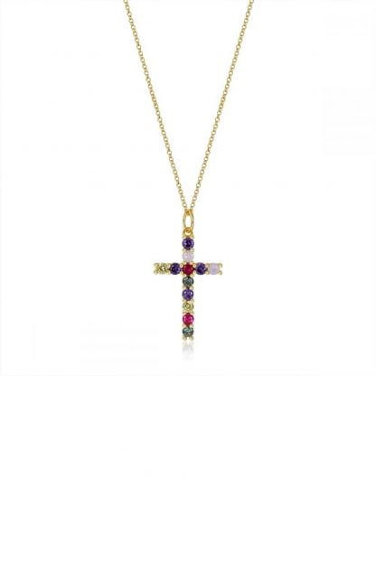 Comprar Collar Cruz Circonita Online