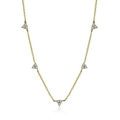 Comprar Collar Circonita Triángulos Online