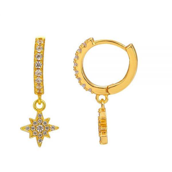 Comprar Pendientes Estrella Circonita Online