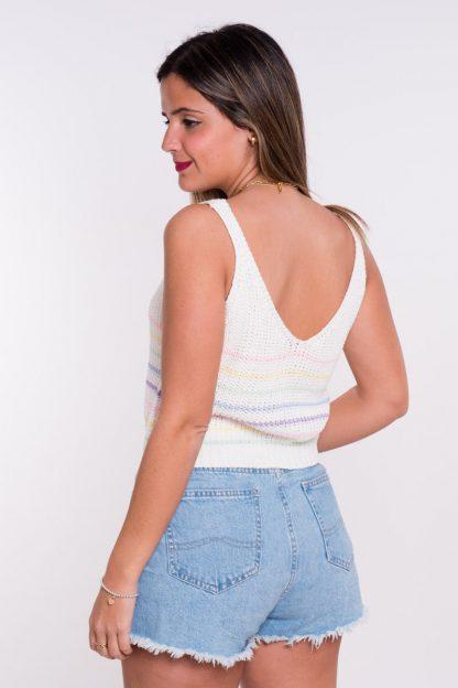 Comprar Top Crochet Rayas Pastel Online