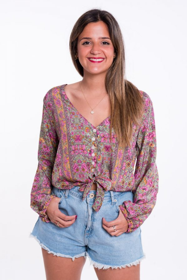 Comprar Blusa Boho Anudada Verde Online