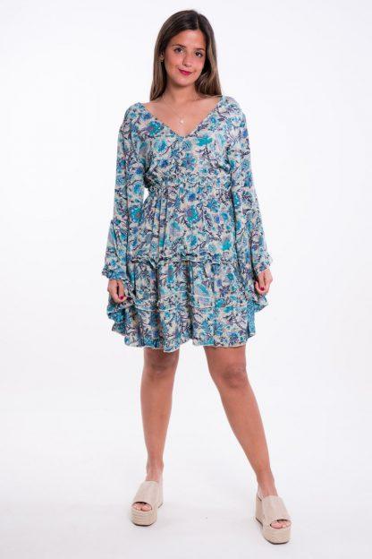 Comprar Vestido Boho Corto Azul Online