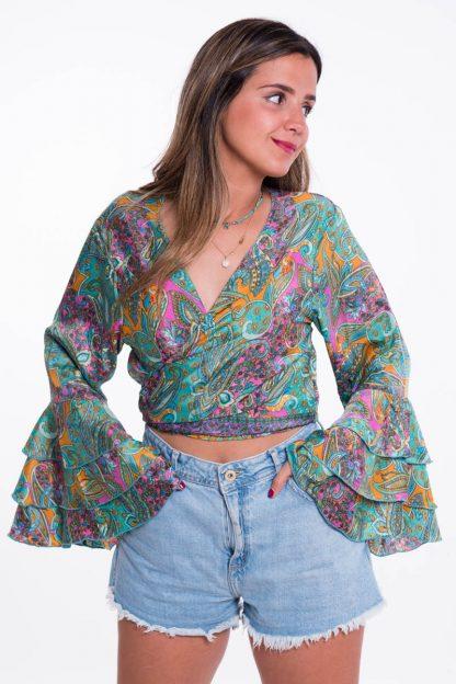 Comprar Blusa Cruzada Boho Online