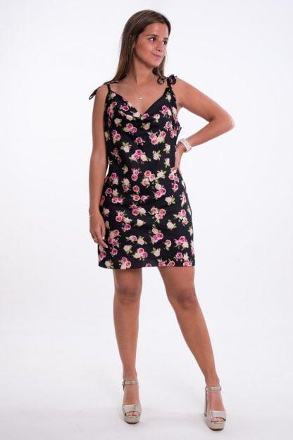 Comprar Vestido Satén Flores Online