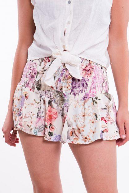 Comprar Short Flores Fruncido Online
