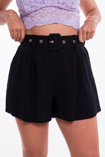 Comprar Short Cinturón Efecto Lino Online