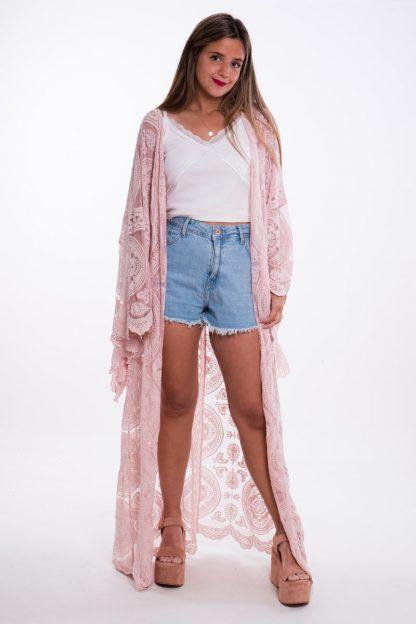 Comprar Kimono Blonda Largo Online