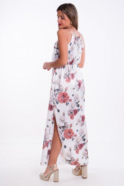 Comprar Vestido Halter Largo Flores Online