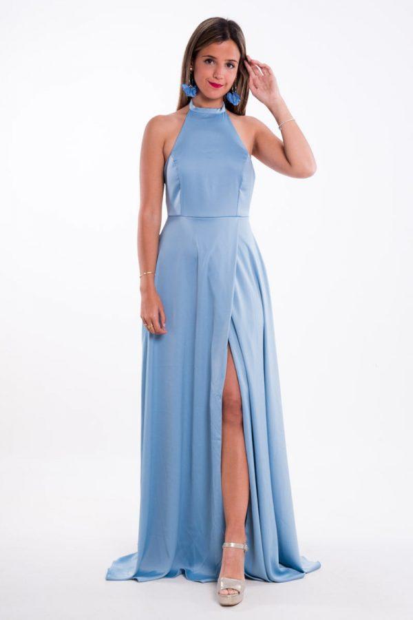 Comprar Vestido Raso Halter Online