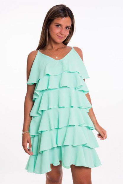 Comprar Vestido Corto Volantes Online