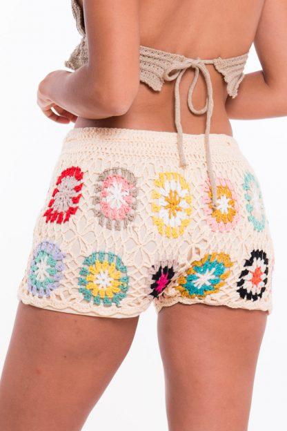 Comprar Short Crochet Flores Online