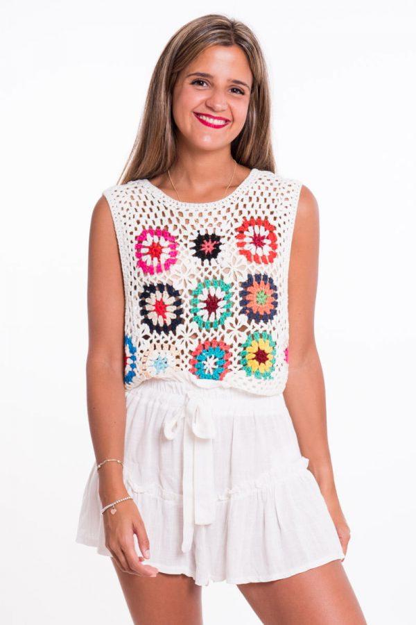 Comprar Top Crochet Flores Online