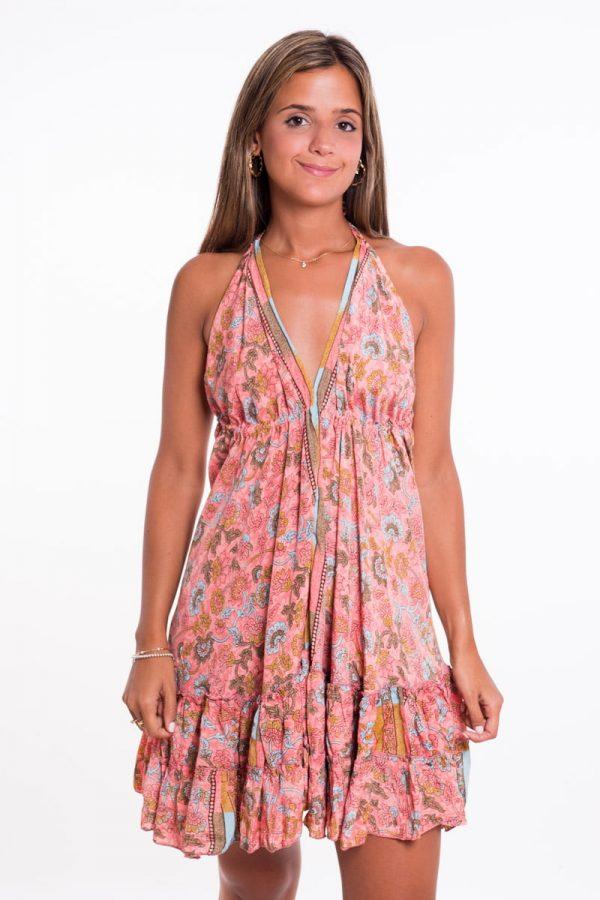 Comprar Vestido Boho Volantes Corto Online