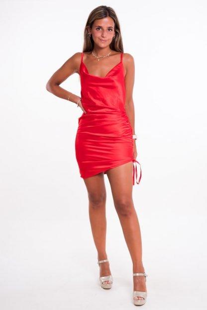 Comprar Vestido Raso Fruncido Online