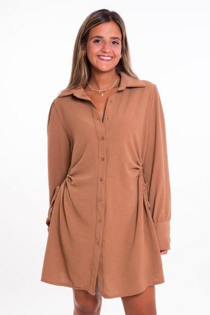 Comprar Vestido Camisero Fruncido Online