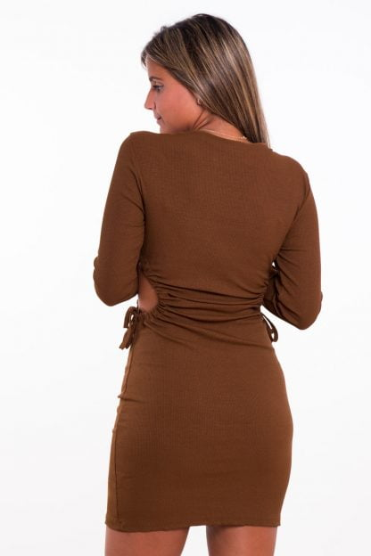 Comprar Vestido Canalé Fruncido Online