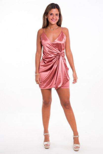 Comprar Vestido Raso Drapeado Online