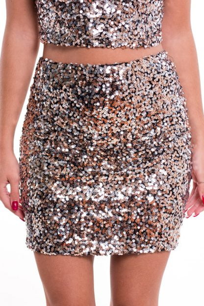 Comprar Falda Tubo Glitter Online