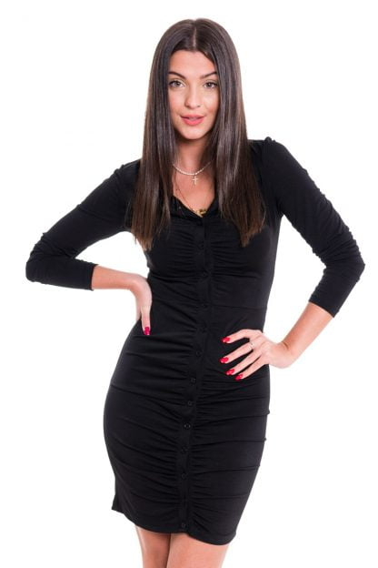 Comprar Vestido Arrugado Camisero Online